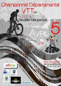 Affiche du Championnat Départemental VTT 2015 de la Vienne à Nouaillé-Maupertuis